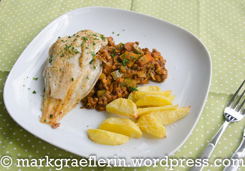 Fischfilet Linsengemüse 2