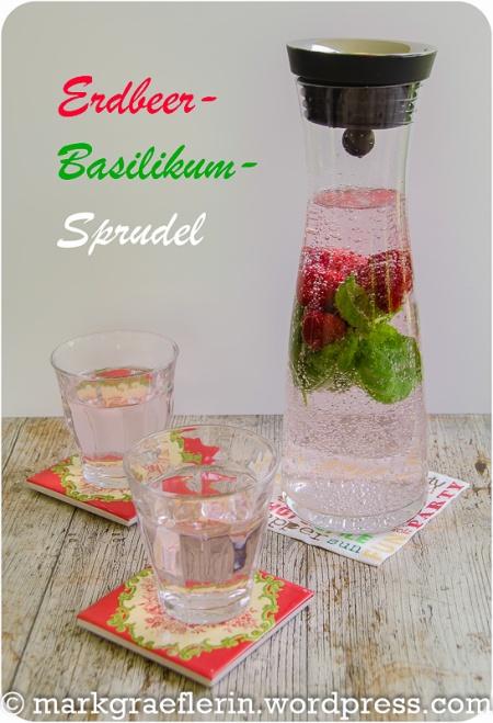 Erdbeer Basilikum Sprudel 1