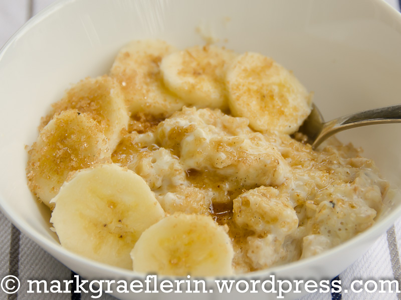 Porridge Banane Zimtzucker 2
