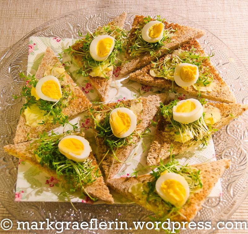 Wachtelei Kresse Toasts 2