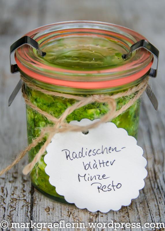 Radieschenblätter-Minze Pesto 1
