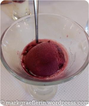Coupe Vigneron - Cassis - und Wein-Sorbet