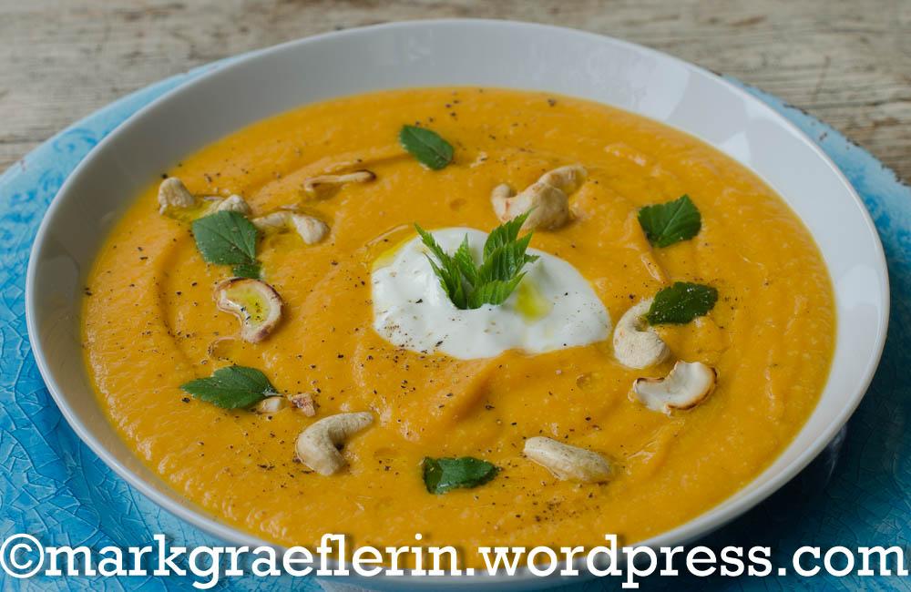 Suesskartoffel Möhren Suppe 1
