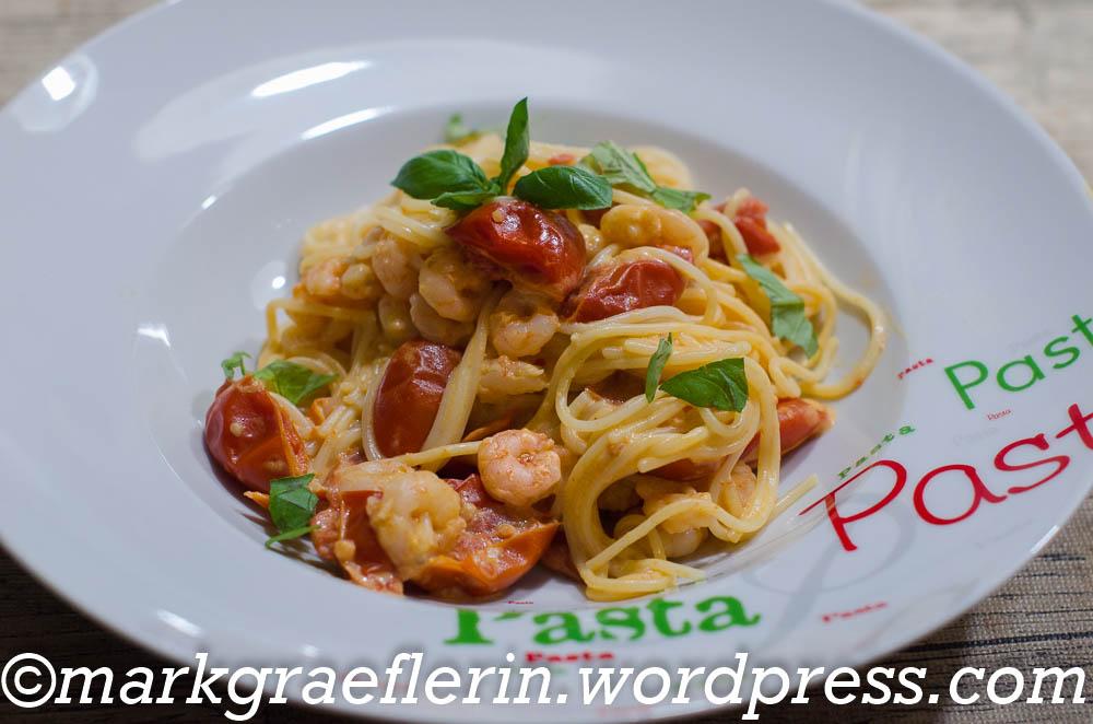 Spaghetti Brunch Garnelen 1